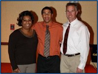 Darrell Wallace with his mother and father