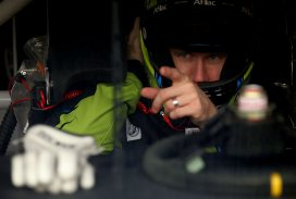 Carl Edwards In Car - Photo Credit: Nick Laham/Getty Images