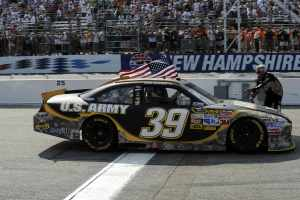 Ryan Newman in the U.S. Army Chevrolet - Photo Credit: Cameras In Action