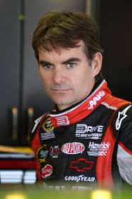 Jeff Gordon in Garage - Photo Credit: Jerry Markland/Getty Images for NASCAR