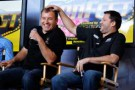 Tony Stewart, right, jokes around with teammate Ryan Newman - Photo Credit: Todd Warshaw/Getty Images for NASCAR