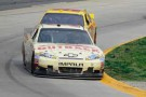 Ryan Newman holds off AJ Allmendinger during the NASCAR Sprint Cup Series Goody's Fast Relief 500 at Martinsville Speedway on Sunday in Martinsville, Va. - Photo Credit: John Harrelson/Getty Images for NASCAR