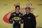 Alex Bowman with car owner Kerry Scherer