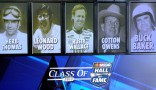 TV screens show the 2013 class of inductees consisting of Buck Baker, Cotton Owens, Herb Thomas, Rusty Wallace and Leonard Wood after Voting Day at the NASCAR Hall of Fame on Wednesday in Charlotte, N.C. - Photo Credit: John Harrelson/Getty Images for NASCAR