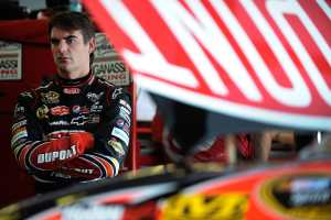 Jeff Gordon in garage - Photo Credit: Jared C. Tilton/Getty Images for NASCAR