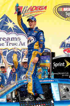 Brad Keselowski celebrates his second win of the season after the NASCAR Sprint Cup Series Aaron's 499 on Sunday in Talladega, Ala. - Photo Credit: Tyler Barric/Getty Images for NASCAR