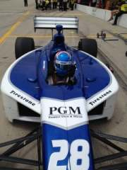 No. 28 PGM/Bryan Herta Autosport car driven by Anders Krohn at Iowa