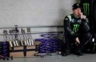 Kyle Busch in the Garage Area - Photo Credit: Tom Pennington/Getty Images for NASCAR