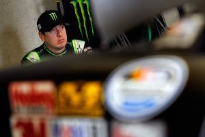 Kyle Busch in the Garage Area - Photo Credit: Tom Pennington / Getty Images for NASCAR
