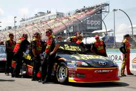 Clint Bowyer and the No. 15 5-hour ENERGY Toyota Crew - Photo Credit: Jeff Zelevansky, Getty Images