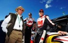 (L-R) Team Owner Jack Roush, Crew Chief Matt Puccia and Driver Greg Biffle. - Photo Credit: Rainier Ehrhardt/Getty Images for NASCAR