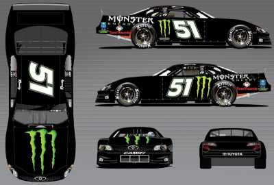 Kyle Busch Motorsport's No. 51 Monster Energy Camry Super Late Model