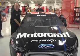 Wood Bros. Racing Prepares the 2013 NSCS No. 21 Motorcraft/Quick Lane Ford Fusion for Daytona Test