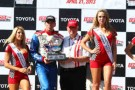 2013 IICS Driver Justin Wilson Poses with His 3rd Place Trophy in Long Beach - Photo Credit: INDYCAR