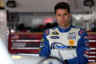 2013 NSCS Driver David Ragan in the garage area - Photo Credit: Jeff Gross/Getty Images