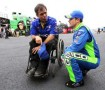 Casey Mears, driver of the #13 GEICO Ford Fusion Ford, talks with Crew Chief Robert 'Bootie' Barker - Photo Credit: Jerry Markland/Getty Images