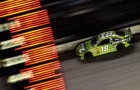 Kyle Busch, driver of the #18 Doublemint Toyota, races the NASCAR Sprint Cup Series 53rd Annual IRWIN Tools Night Race at Bristol Motor Speedway on August 24, 2013 in Bristol, Tennessee. - Photo Credit Jared C. Tilton/Getty Images