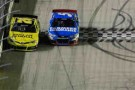 Matt Kenseth (No. 20 Dollar General Toyota) Holds Off Kasey Kahne (No. 5 Farmers Insurance Chevrolet) by 0.188 seconds to win the NSCS IRWIN Tools Night Race at Bristol Motor Speedway. - Photo Credit: John Harrelson/Getty Images