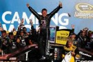 Jamie McMurray, driver of the #1 Cessna Chevrolet, celebrates in Victory Lane after winning the NASCAR Sprint Cup Series Camping World RV Sales 500 at Talladega Superspeedway on October 20, 2013 in Talladega, Alabama. - Photo Credit Chris Graythen/Getty Images