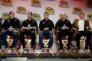 (L-R) Ryan Newman, driver of the #31 Caterpillar/Quicken Loans Chevrolet, Paul Menard, driver of the #27 Menard's Chevrolet, Austin Dillon, driver of the #3 DOW/Cheerios Chevrolet, Eric Warren, director of competition for Richard Childress Racing, and Richard Childress, owner of Richard Childress Racing speak with the media during the NASCAR Sprint Media Tour at Charlotte Convention Center on January 28, 2014 in Charlotte, North Carolina. - Photo Credit:: Grant Halverson/Getty Images