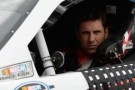 Elliott Sadler, driver of the #11 GameStop-Turtle Beach Toyota, sits in his car during qualifying for the NASCAR Nationwide Series TREATMYCLOT.COM 300 at Auto Club Speedway on March 22, 2014 in Fontana, California. - Photo Credit: Kevork Djansezian/Getty Images