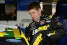 Carl Edwards, driver of the #99 Subway Ford, prepares to drive during practice for the NASCAR Sprint Cup Series Auto Club 400 at Auto Club Speedway on March 22, 2014 in Fontana, California. - Photo Credit: Harry How/Getty Images