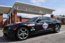 Talladega Superspeedway pace car sits out front of Vestavia Hills Elementary School in Birmingham, AL.