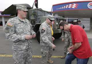 Speedway's military pre-race plans the Coca-Cola 600. (CMS/HHP photo