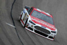 2014 NSCS Driver Trevor Bayne on track in the No. 21 Motorcraft/Quick Lane Ford Fusion - Photo Credit: Jeff Gross/Getty Images