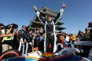 Simon Pagenaud of France, driver of the #77 Schmidt Peterson Hamilton Motorsports Dallara Honda celebrates winning the Grand Prix of Indianapolis at Indianapolis Motor Speedway on May 10, 2014 in Indianapolis, Indiana. - Photo Credit: Nick Laham/Getty Images