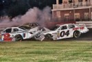 Ronnie Bassett Jr. (04) Gets Caught Up In Last Lap Accident At Bowman-Gray Stadium