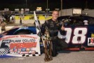 Daniel Hemric celebrates his first SSS win of 2014 at Five Flags. (Photo Credit: Speed 51)