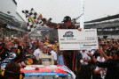 Ty Dillon, driver of the #3 Bass Pro Shops Chevrolet, celebrates in Victory Lane after winning the NASCAR Nationwide Series Lilly Diabetes 250 at Indianapolis Motor Speedway on July 26, 2014 in Indianapolis, Indiana. - Photo Credit: Brian Lawdermilk/Getty Images