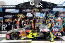 Jeff Gordon, driver of the #24 Axalta Chevrolet, celebrates in Victory Lane after winning the NASCAR Sprint Cup Series Pure Michigan 400 at Michigan International Speedway on August 17, 2014 in Brooklyn, Michigan. - Photo Credit: Jerry Markland/Getty Images