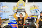 Brendan Gaughan, driver of the #62 South Point Chevrolet, celebrates in victory lane after winning the NASCAR Nationwide Series VisitMyrtleBeach.com 300 at Kentucky Speedway on September 20, 2014 in Sparta, Kentucky. - Photo Credit: Daniel Shirey/Getty Images