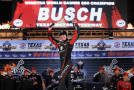 Kyle Busch, driver of the #51 ToyotaCare Toyota, celebrates in Victory Lane after winning the NASCAR Camping World Truck Series WinStar World Casino & Resort 350 at Texas Motor Speedway on October 31, 2014 in Fort Worth, Texas. - Photo Credit: Chris Graythen/Getty Images