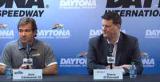 Daytona International Speedway's President Joie Chitwood II and NASCAR Executive Vice President Steve O'Donnell