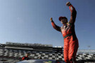 Jeff Gordon, driver of the #24 Drive To End Hunger Chevrolet, celebrates after qualifying for pole position for the 57th Annual Daytona 500 at Daytona International Speedway on February 15, 2015 in Daytona Beach, Florida. - Photo Credit: Jared C. Tilton/Getty Images
