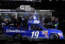 Tyler Reddick, driver of the #19 DrawTite Ford, celebrates in victory lane after winning the NASCAR Camping World Truck Series NextEra Energy Resources 250 at Daytona International Speedway on February 20, 2015 in Daytona Beach, Florida. - Photo Credit: Jerry Markland/Getty Images