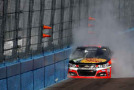 Tony Stewart, driver of the #14 Bass Pro Shops / Mobil 1 Chevrolet, hits the wall during the NASCAR Sprint Cup Series CampingWorld.com 500 at Phoenix International Raceway on March 15, 2015 in Avondale, Arizona. - Photo Credit: Christian Petersen/Getty Images