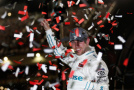 Denny Hamlin, driver of the #20 Hisense Toyota, celebrates in Victory Lane after winning the NASCAR XFINITY Series ToyotaCare 250 at Richmond International Raceway on April 24, 2015 in Richmond, Virginia. - Photo Credit: Todd Warshaw/Getty Images