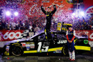 Carl Edwards, driver of the #19 Subway Toyota, celebrates in Victory Lane after winning the NASCAR Sprint Cup Series Coca-Cola 600 at Charlotte Motor Speedway on May 24, 2015 in Charlotte, North Carolina. - Photo Credit: Jerry Markland/Getty Images