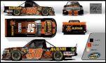 Travis Kvapil, No. 50 Burnie Grill Chevrolet Silverado Layout