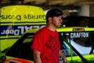 Matt Crafton, driver of the #88 Ideal Door/Menards Toyota, looks on in the garage area during practice for the NASCAR Camping World Truck Series WinStar World Casino & Resort 400 at Texas Motor Speedway on June 4, 2015 in Fort Worth, Texas. - Photo Credit: Jonathan Ferrey/Getty Images