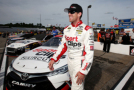 Carl Edwards, driver of the #19 Sport Clips Toyota Camry - Photo Credit: Nick Laham/Getty Images