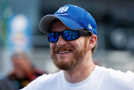 Dale Earnhardt Jr., driver of the #88 Nationwide Stars and Stripes Chevrolet, stands on the grid during qualifying for the NASCAR Sprint Cup Series Coke Zero 400 at Daytona International Speedway on July 4, 2015 in Daytona Beach, Florida. - Photo Credit: Scott Halleran/Getty Images