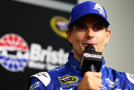 Jeff Gordon, driver of the #24 Axalta Chevrolet, speaks to the media during a press conference after practice for the NASCAR Sprint Cup Series Irwin Tools Night Race at Bristol Motor Speedway on August 21, 2015 in Bristol, Tennessee. - Photo Credit: Daniel Shirey/Getty Images
