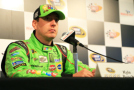 Kyle Busch, driver of the #18 M&M Crispy Toyota, speaks to the media during a press conference prior to practice for the NASCAR Sprint Cup Series Cheez-It 355 at Watkins Glen International on August 7, 2015 in Watkins Glen, New York. - Photo Credit: Daniel Shirey/Getty Images