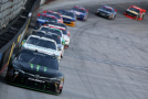 Kyle Busch, driver of the #54 Monster Energy Toyota, leads a pack of cars during the NASCAR XFINITY Series Food City 300 at Bristol Motor Speedway on August 21, 2015 in Bristol, Tennessee. - Photo Credit: Brian Lawdermilk/Getty Images