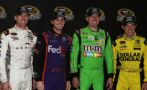 2015 NSCS Joe Gibbs Racing ChaseJ Drivers (L - R) Carl Edwards, Denny Hamlin, Kyle Busch and Matt Kenseth - Photo Credit: Jerry Markland/Getty Images